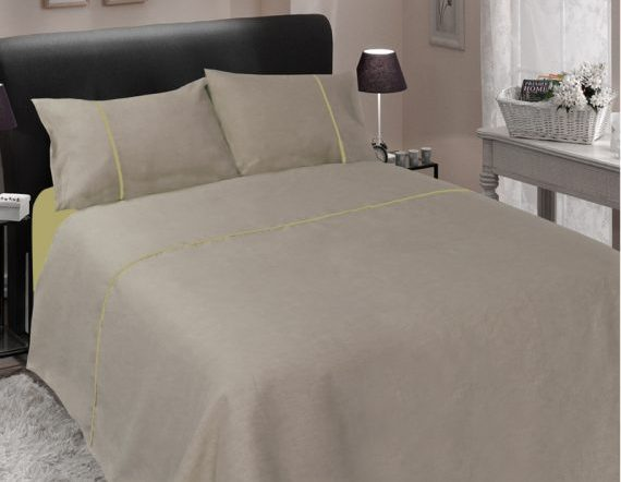 Bed linen white and colored
